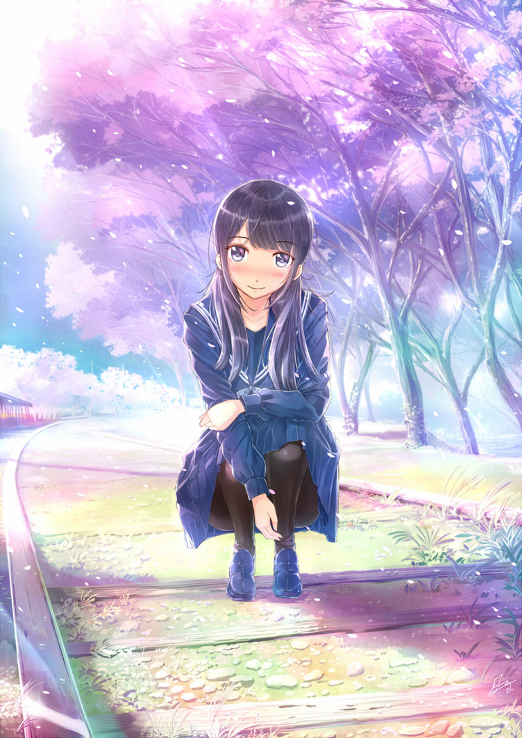 Girl of Cherry blossoms by PenName-Kazeno