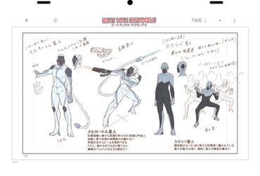 Enemy model sheets of my original Animation