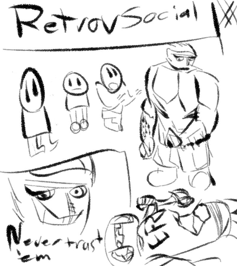 Retrovsocial #1 by artofguy