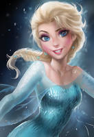 [STUDY] Sakimichan - Elsa by dadsiren