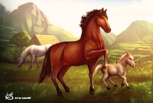 Horse artwork by Lukart96