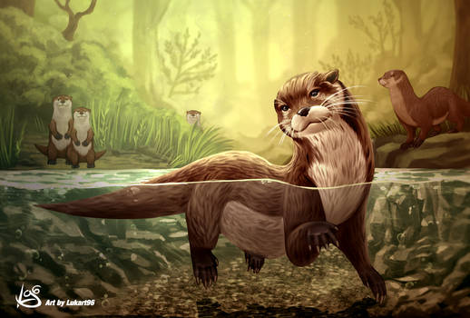 Otter artwork by Lukart96
