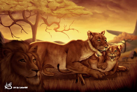 Lions artwork by Lukart96