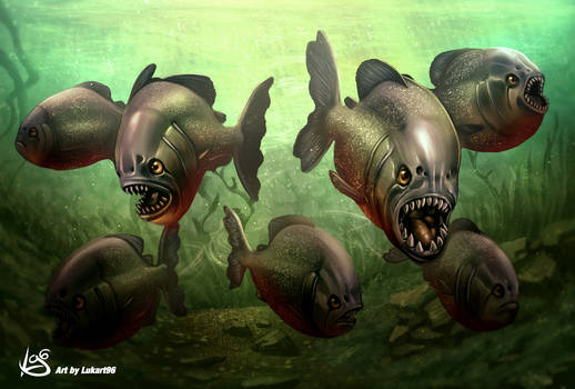 Piranhas artwork by Lukart96