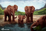 Elephant artwork by Lukart96