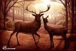 Deer artwork by Lukart96