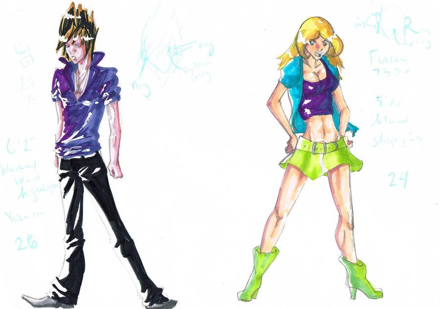 Yuuta and Flacon Chara Sketch by SDMcCarty
