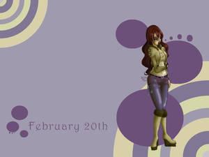 February 20th Birthday Wallpaper