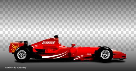 F1 race car by bunaioding