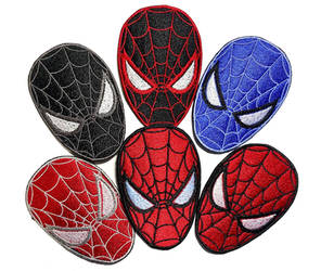 Spiderman Masks Miles Morales Iron On Patches by DragosteArt