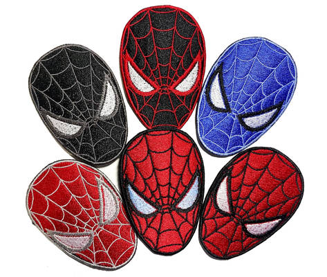 Spiderman Masks Miles Morales Iron On Patches