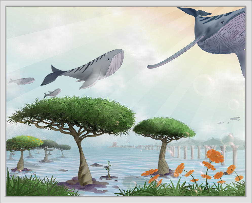 daydream of the flying whales by evionn