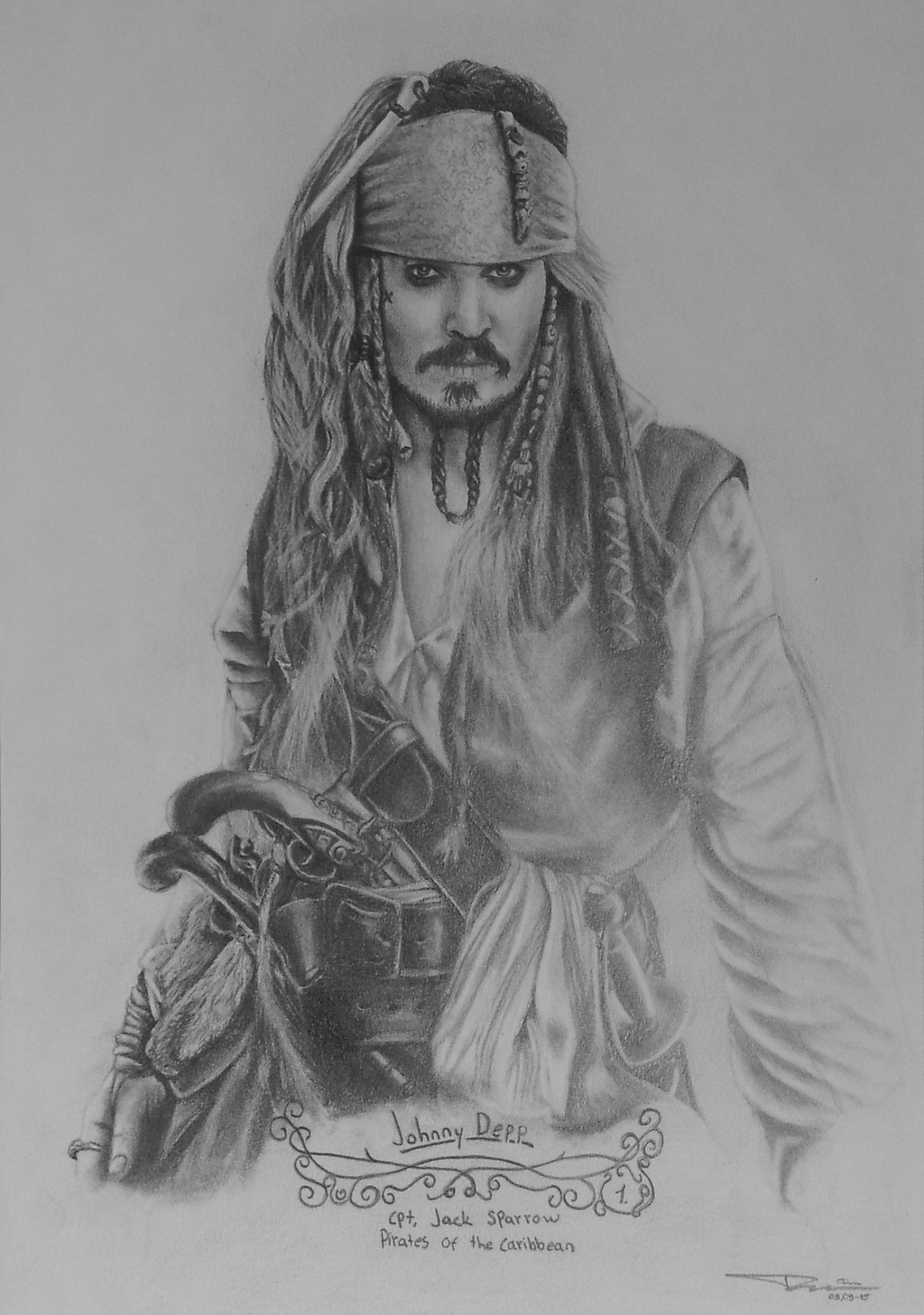 Jack Sparrow pencil drawing by ArtDitional92 on DeviantArt