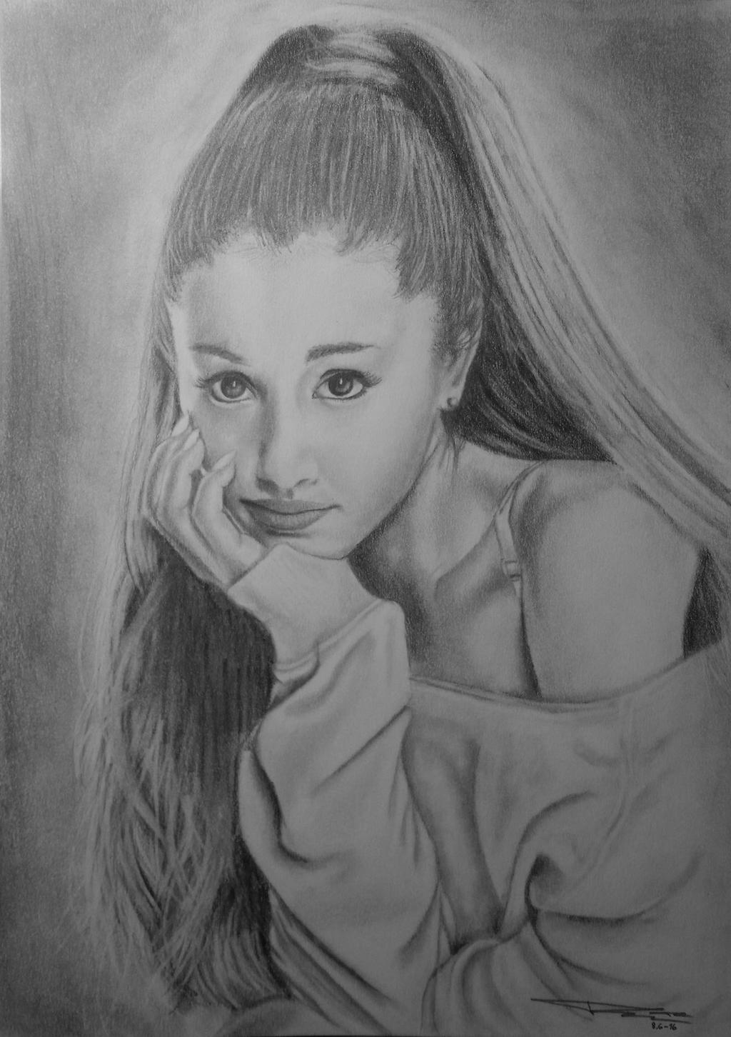 Ariana Grande Pencil Drawing By ArtDitional92 On DeviantArt