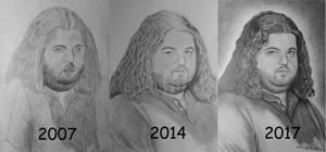 Hugo Reyes Pencil Drawings