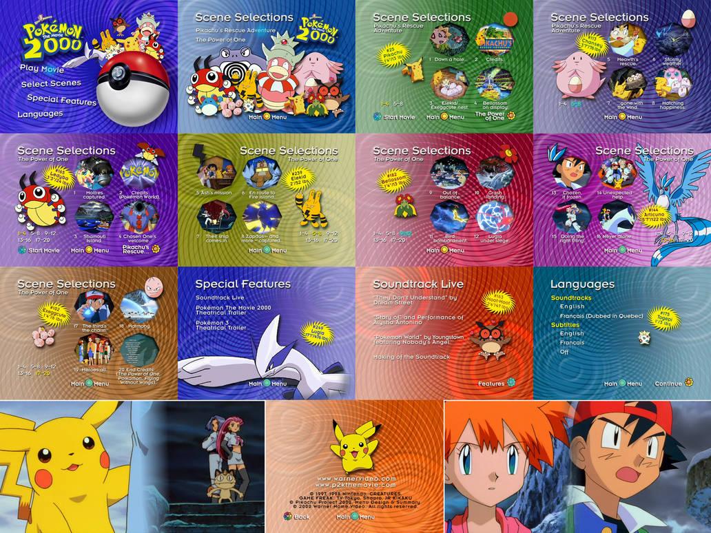 Pokemon The Movie 2000 Dvd Menu By Dakotaatokad On Deviantart