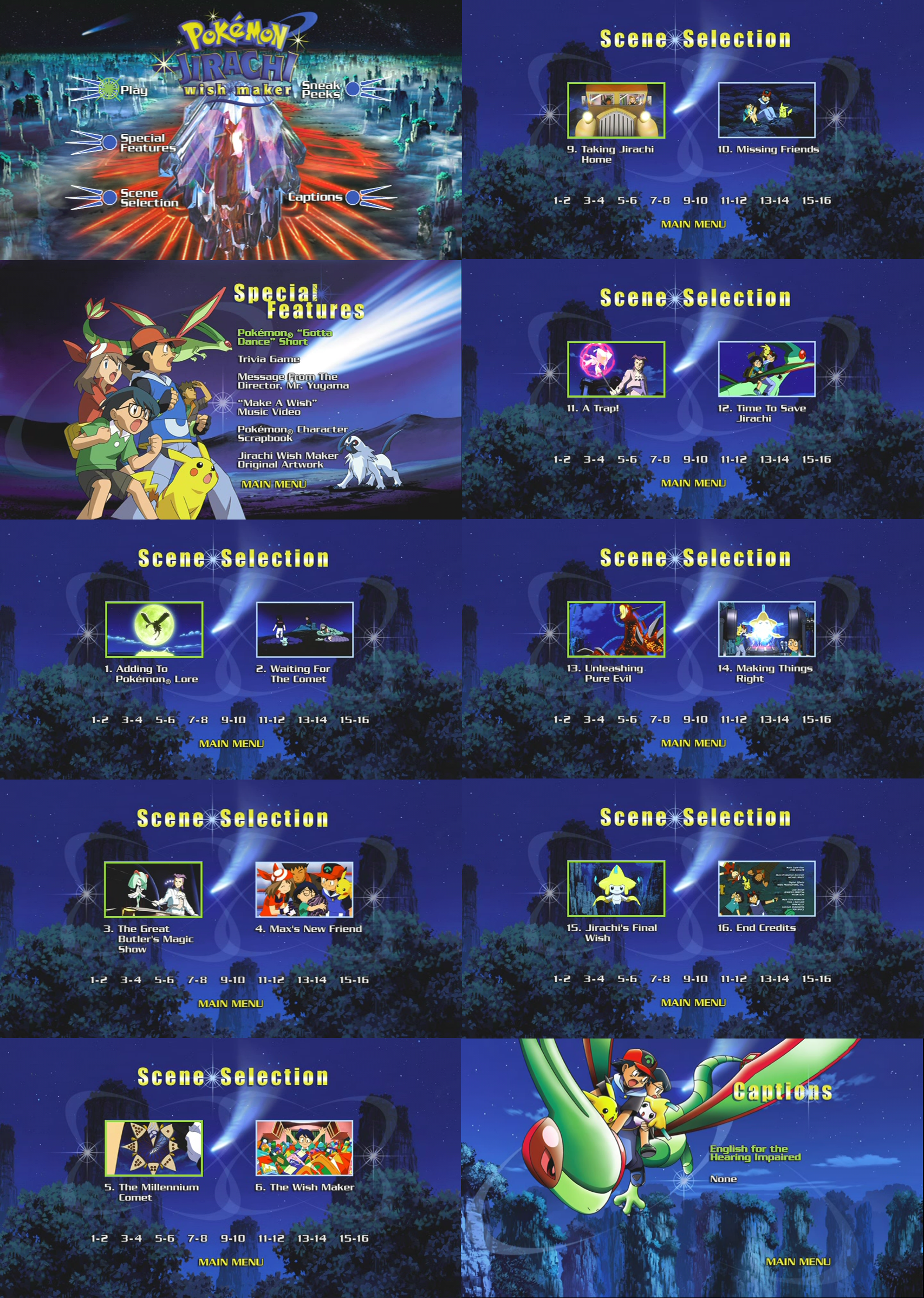 Pokemon Jirachi Wishmaker Dvd Menus By Dakotaatokad On Deviantart