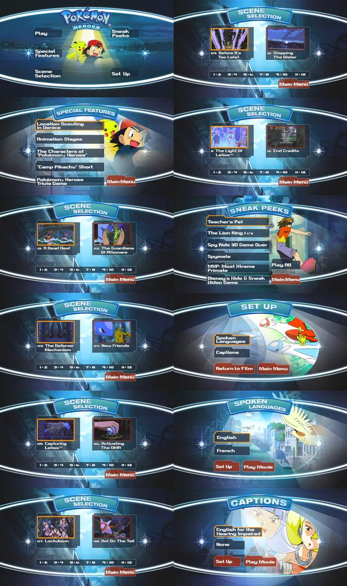 Pokemon Heroes Dvd Main Menu Images Pokemon Images
