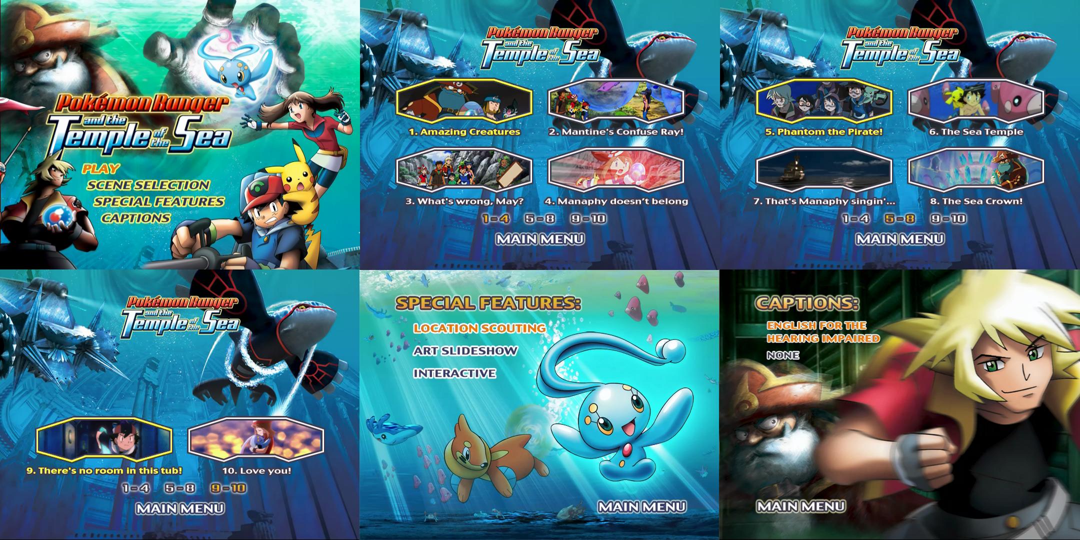 Pokemon Ranger And The Temple Of The Sea Dvd Menus By Dakotaatokad
