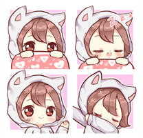 C:Chibi Emotes by bunbby
