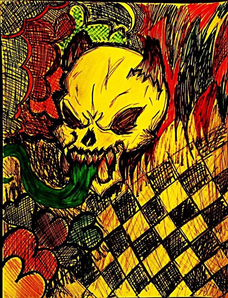 Skull (wallpaper?) by X-x-Punk-Angel-x-X