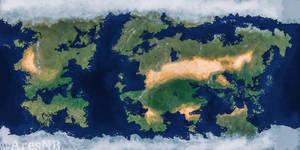 project 5 . fantasy world map .