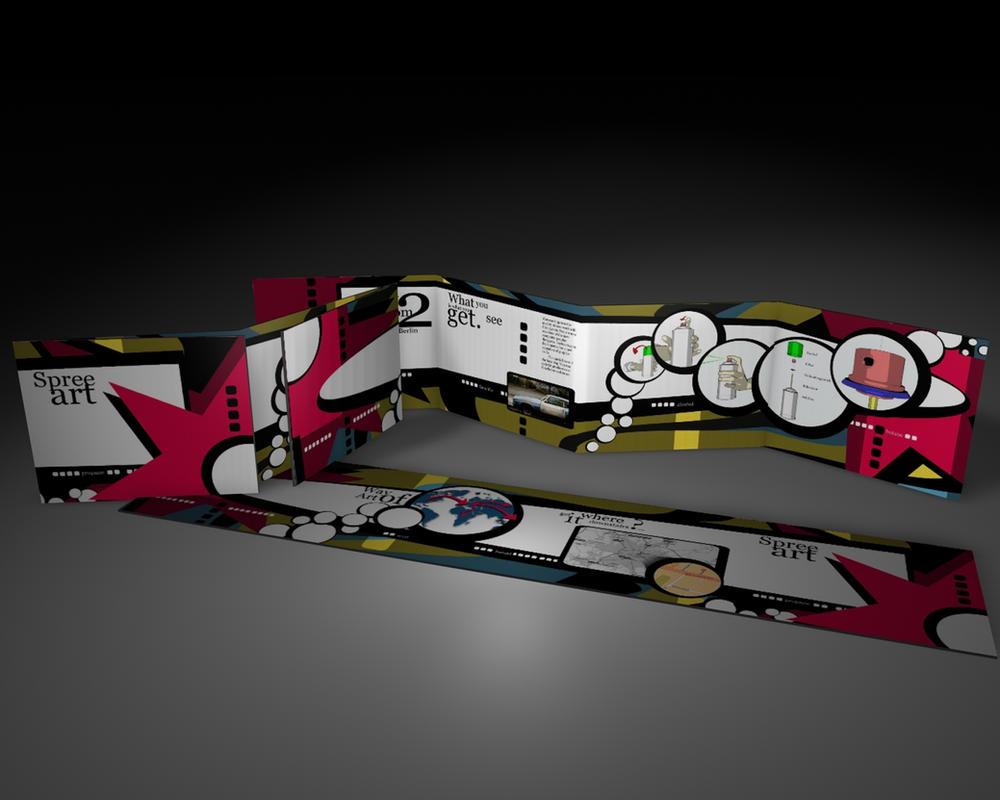 Leporello Street Art design 1 by B3Ns