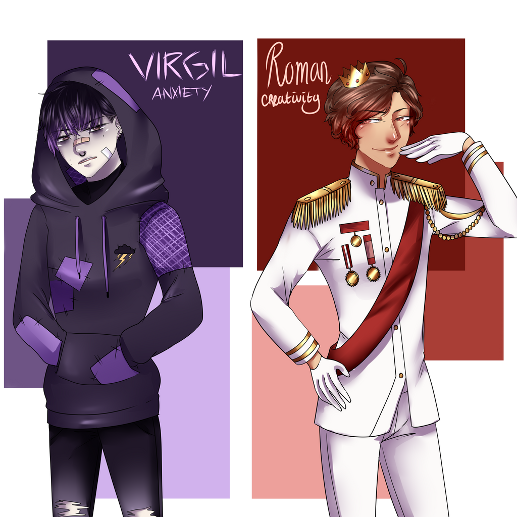 Sander's sides - Virgil and Roman by MikeSenpai on DeviantArt