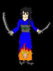 Dungeons and Dragons OC: Suzuno Watanabe - Samurai by MasterJiggywiggy