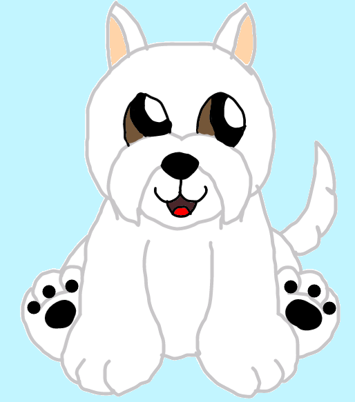 webkinz signature west highland terrier drawing. by ...
