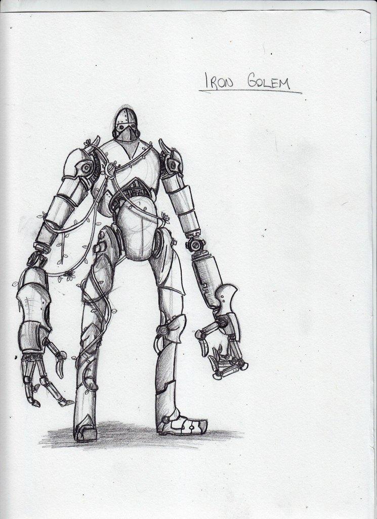 Minecraft Sketch Iron Golem By Criticalrobotboy On Deviantart