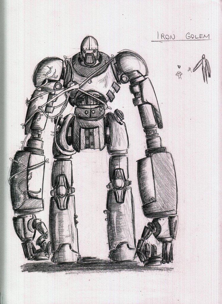 Iron Golem Sketch Version 2 By Criticalrobotboy On Deviantart