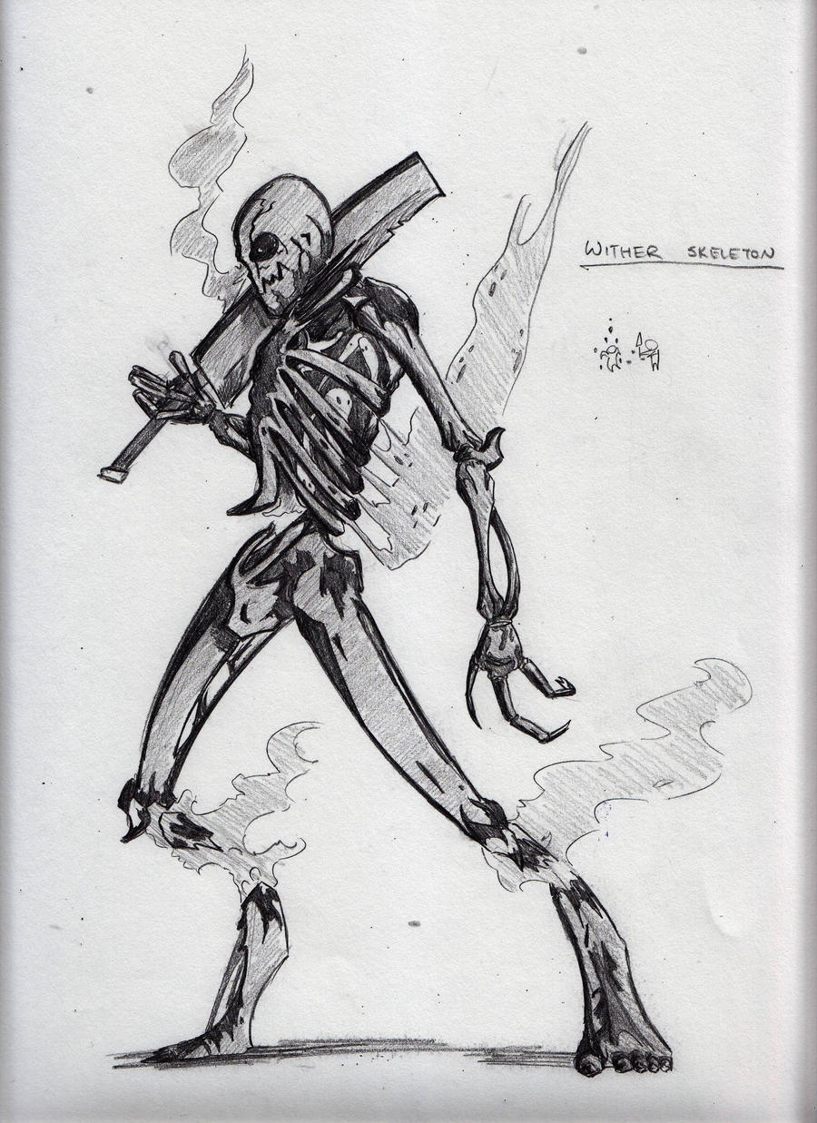 Wither Skeleton Sketch by CriticalRobotBoyReal Life Wither Skeleton