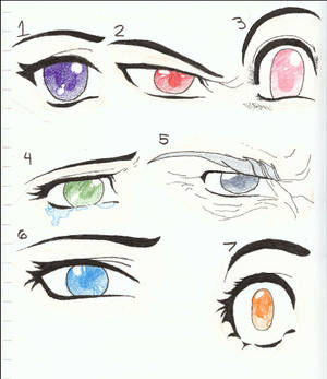 Manga or Anime Eye drawings