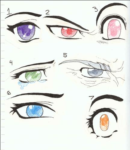 Manga or Anime Eye drawings