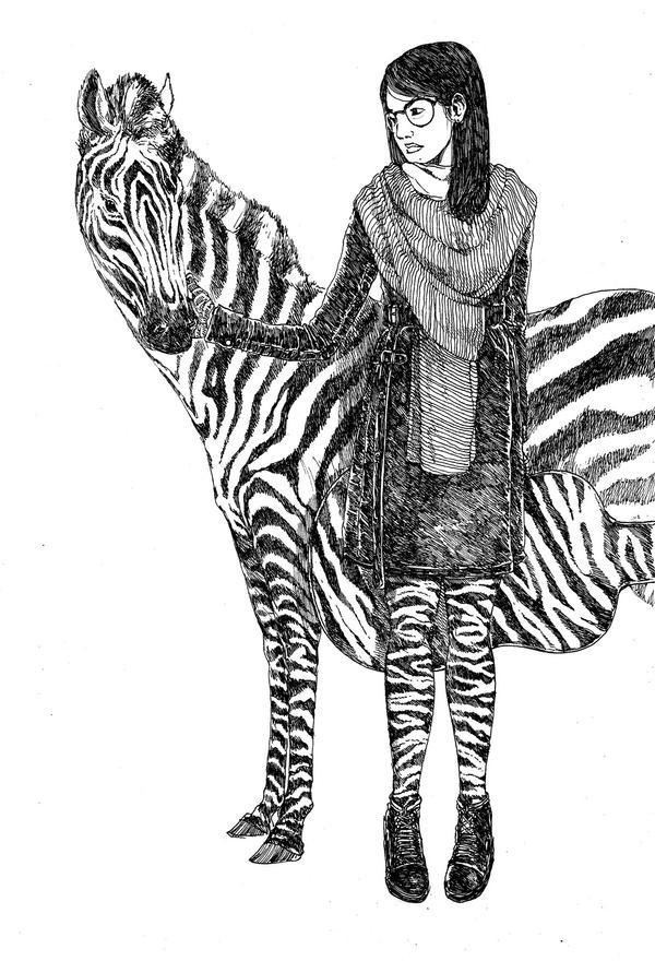 Zebra Girl by transbonja