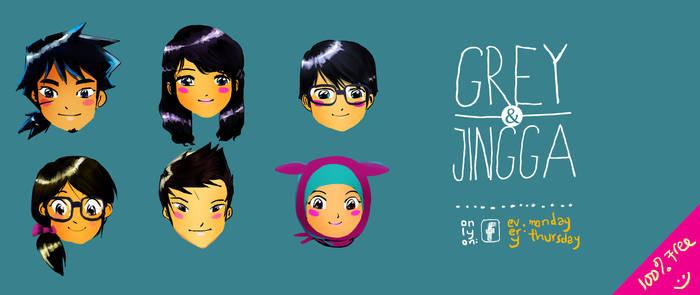 Grey and Jingga