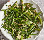 Roast Sugar Snaps  Green Beans With Tonnato Dress by Tsingh121