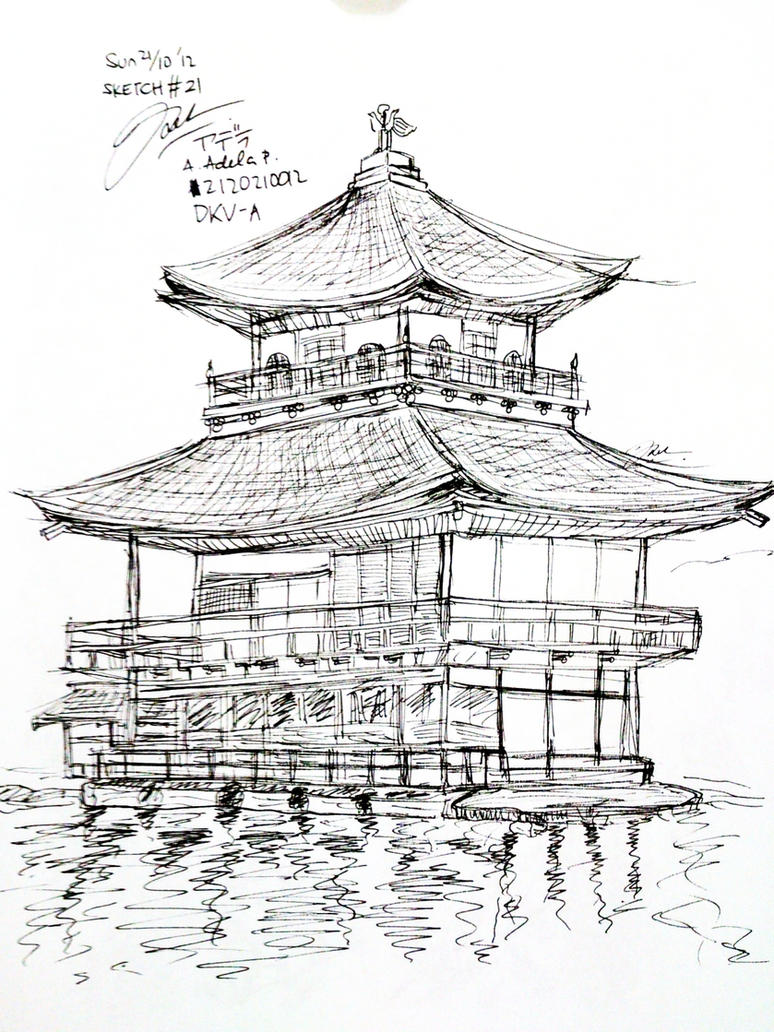 SKETCH21 Kinkaku ji By Adela1015 On DeviantArt