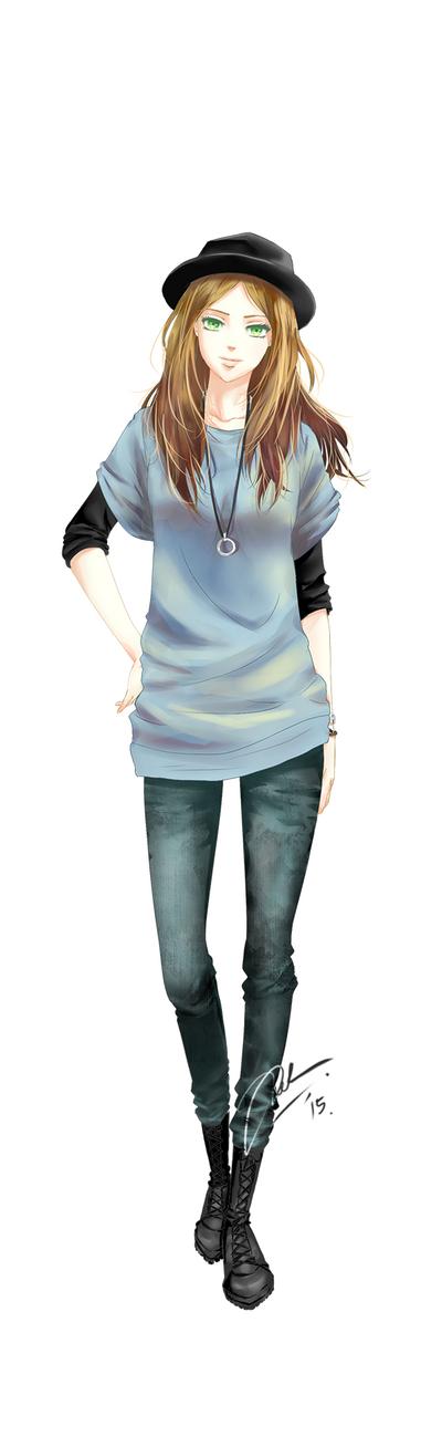 OC#2: Tsugumi Itoh by Adela1015