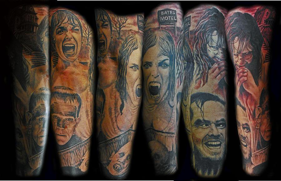 horror sleeve - sleeve tattoo
