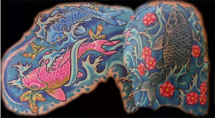 49 Best Chest Koi Fish Tattoos Images On Pinterest: Tattoo Images By Lester Finch