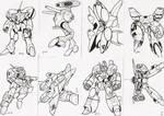 robotech sketch cards