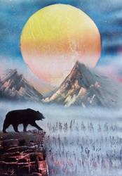 bear spray painting