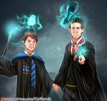 Harry Potter Theme Couple Portrait for Our friends