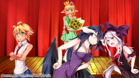 if characters of Overlord entered a Beauty contest by Catifornia