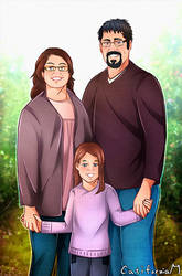 Family Portrait for Our friends in apple orchard