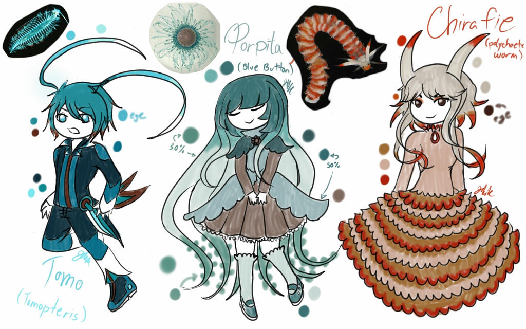 Deep sea creatures part 1 by lucila-88