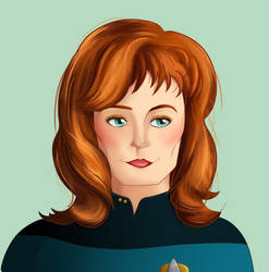 Star Trek: Beverly Crusher by greenteaduck