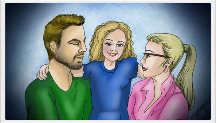 Oliver and Felicity - Family by quirkypaynesgrey